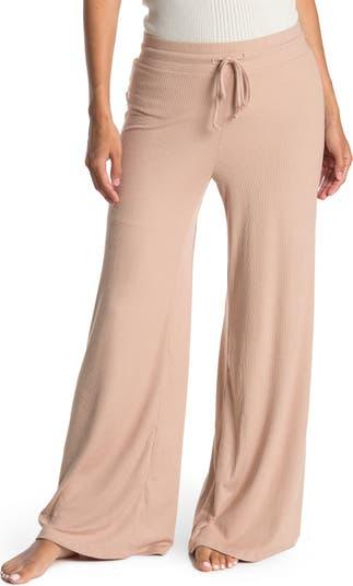 Пижамные штаны в рубчик с завязками на талии Socialite