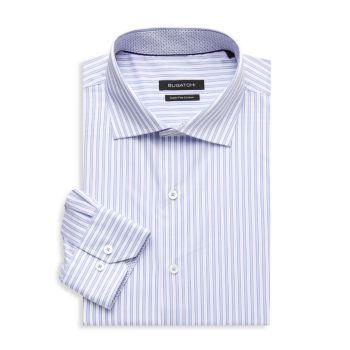 Классическая рубашка в полоску стандартного кроя BUGATCHI