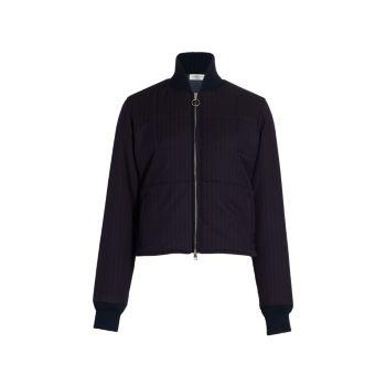 Укороченная куртка из натуральной шерсти Victoria Beckham