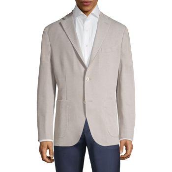 Шерстяной пиджак из пике BOGLIOLI