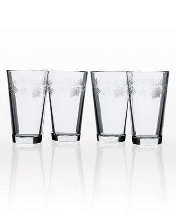 Стакан для пинты ледяной сосны 16 унций - набор из 4 стаканов Rolf Glass