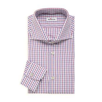 Маленькая классическая рубашка в клетку Kiton