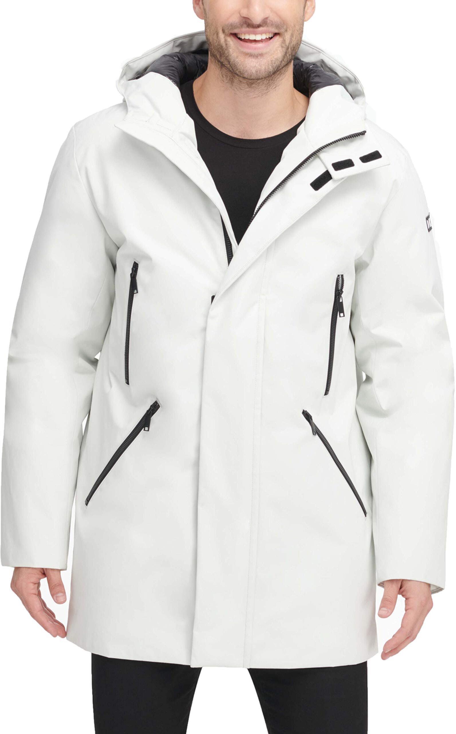 Водонепроницаемая куртка-парка с капюшоном и логотипом DKNY