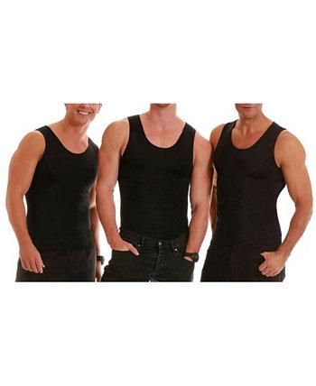 3 пары компрессионных мужских футболок Insta Slim без рукавов Instaslim