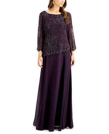 Платье с бисером на рукавах 3/4 J Kara