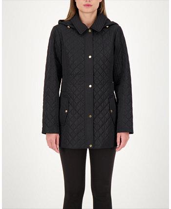 Стеганое водостойкое пальто с капюшоном, созданное для Macy's Jones New York