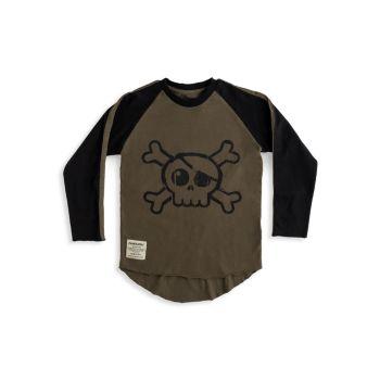Little Boy's & amp; Рубашка для мальчиков с принтом черепа Nununu