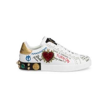 Кроссовки Portofino с украшенным логотипом Dolce & Gabbana