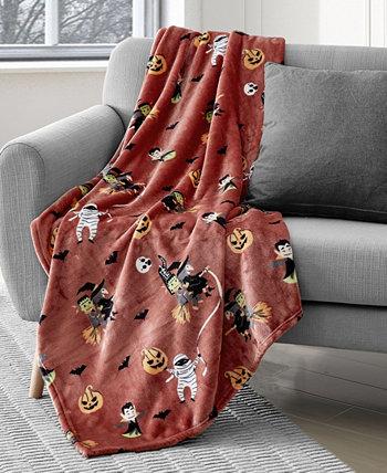 Monster Mash Halloween Plush Throw, 50 x 60 дюймов Lacourte