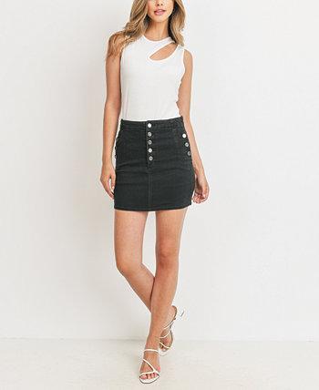 Женская юбка на пуговицах Rubberband Stretch