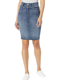 Double Waistband Welt Pocket Skirt in Victory Liverpool