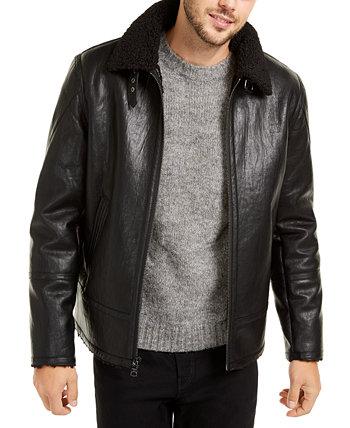 Мужская куртка из искусственной кожи Shearling, созданная для Macy's Calvin Klein