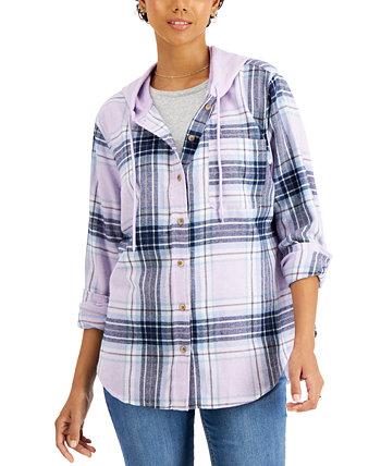 Клетчатая рубашка с капюшоном для юниоров Just Polly