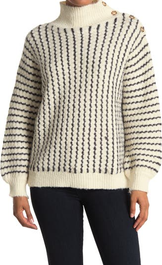 Вязаный свитер с пуговицами в полоску FRNCH