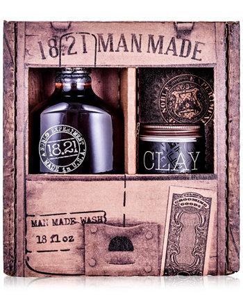 2-Рс. Подарочный набор Wash & Clay 18.21 Man Made