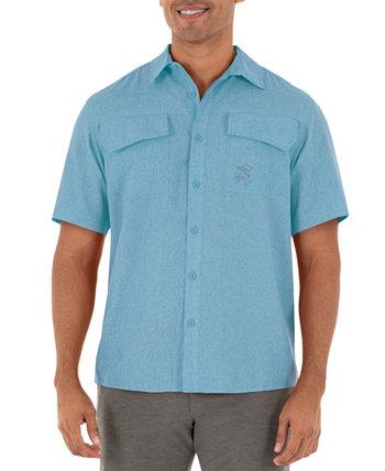 Рубашка для рыбалки с короткими рукавами и текстурой вереска Guy Harvey