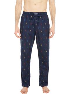 Пижамные брюки со сплошным принтом пони Ralph Lauren