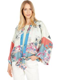 Lubello Rose Reversible Kimono Johnny Was