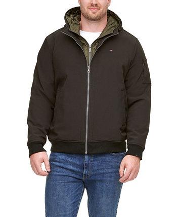 Мужская большая и высокая куртка с капюшоном и мягкой вставкой Tommy Hilfiger