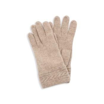 Текстурированные кашемировые перчатки Portolano