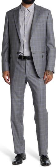 Шерстяной костюм с принтом Milburn в клетку Hickey Freeman
