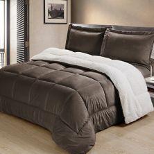 Swift Home Ultra Plush Reversible Micromink & Sherpa Fleece Comforter Set Swift Home