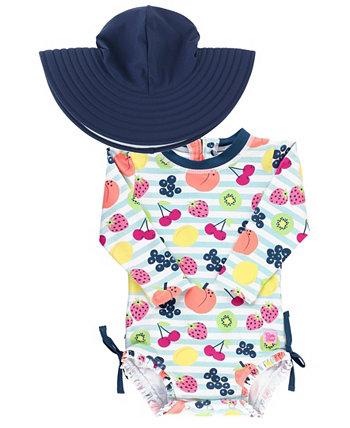 Комплект цельнокроеных шляп для плавания с рюшами для маленьких девочек RuffleButts