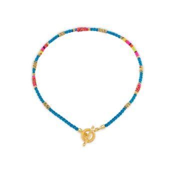 Marceau с покрытием из золота 24K & amp; Шелковое Ожерелье Gas Bijoux