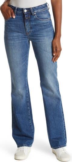 Leaf Slim Fit High Rise Flared Jeans CLOSED