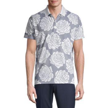 Жаккардовая рубашка-поло с цветочным принтом Slim Fit Performance Bonobos