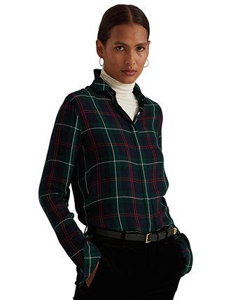 Рубашка из твила в клетку большого размера Ralph Lauren