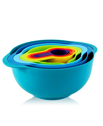 Multipurpose Stackable Mixing Bowl and Measuring Cup Set, 8 Piece MegaChef