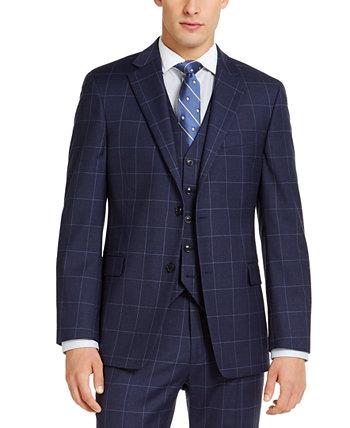 Мужская классическая куртка TH Flex Stretch темно-синего цвета для оконных стекол Tommy Hilfiger