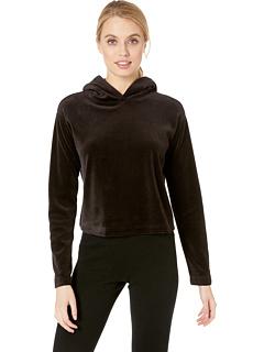 Велюровый пуловер с капюшоном Juicy Couture
