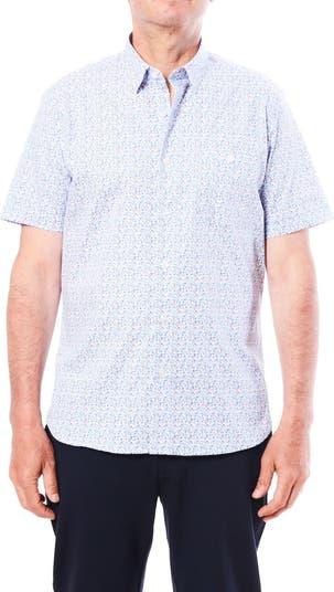 Спортивная рубашка с короткими рукавами и микропринтом Toscano