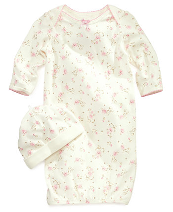 Винтажное платье и шапка с принтом роз для маленьких девочек Little Me