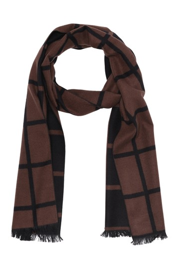 Тканый шарф с принтом Windowpane Chelsey Imports