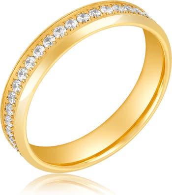 Кольцо Eternity из желтого золота 585 пробы ADORNIA