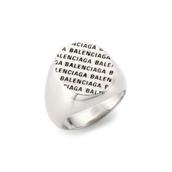 Кольцо с драгоценным логотипом Balenciaga