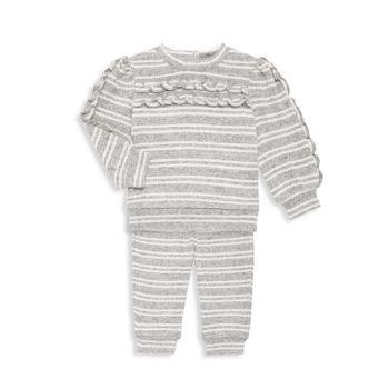 Baby Girl's 2-Piece Striped Sweatshirt & Joggers Set Habitual