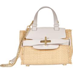 Миниатюрная соломенная сумка через плечо Brigette с поясом ZAC Zac Posen