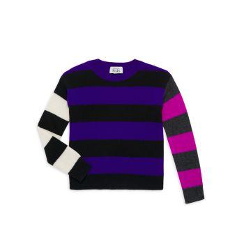 Свитер с цветными блоками в стиле регби для девочек Autumn Cashmere