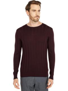 Ребристый свитер с круглым вырезом и чаевые Eleventy