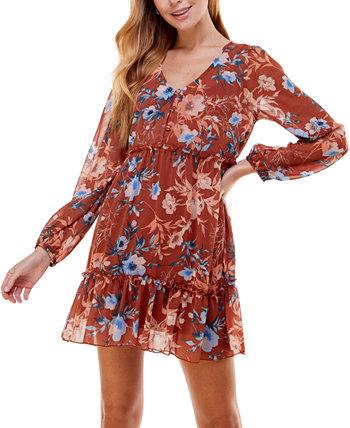 Юниорское платье с цветочным принтом и пышной юбкой City Studios