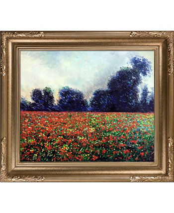 "By Overstockart Poppies At Giverny with Florentine Frame, 27"" x 31"" La Pastiche"