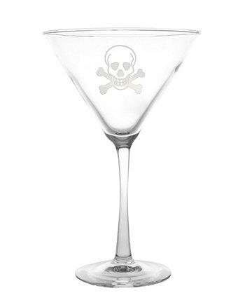 Мартини 10 унций - череп и скрещенные кости - набор из 4 стаканов Rolf Glass