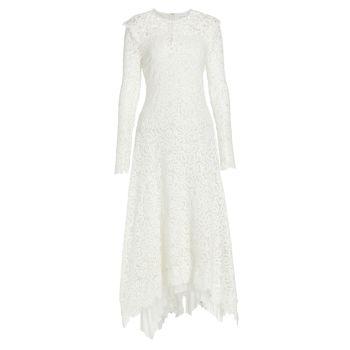 Кружевное платье миди из гипюра Corrie Jonathan Simkhai