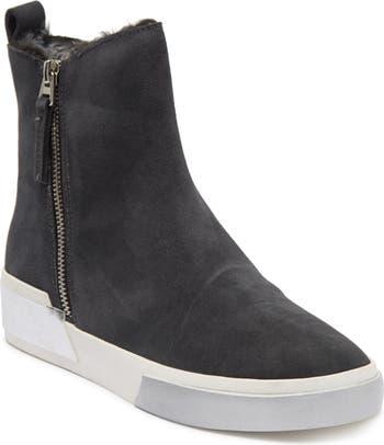 Faux Shearling Sneaker Wedge DV Footwear