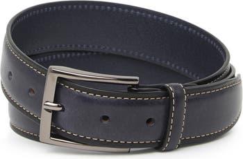 Кожаный ремень с вышивкой перьями DUCHAMP