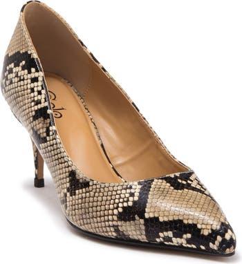 Туфли-лодочки Francine с кожаным принтом из змеиной кожи Golo